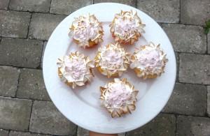 Citroncupcakes med marengs og lemoncurd
