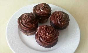 Chokoladecupcakes med espresso