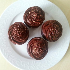 Chocolate Espresso Cupcakes - the ultimate combination of bitter-sweet flavours | Den ultimative kombination af kaffe og kage