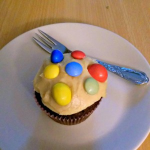cupcakes with m&m